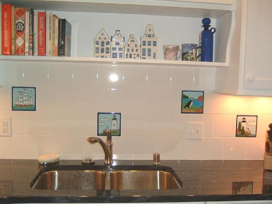 nautical kitchen backsplash tiles with white american olean background